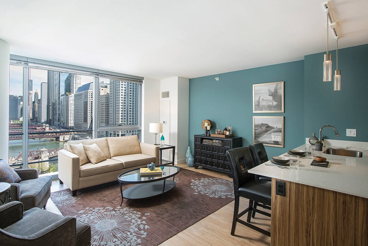 Living Room Setup With Al Furniture From Brook At Wolf Point West