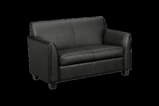 Fantastic Basyx Black Leather Sofa For Rent Brook Furniture Rental Cjindustries Chair Design For Home Cjindustriesco
