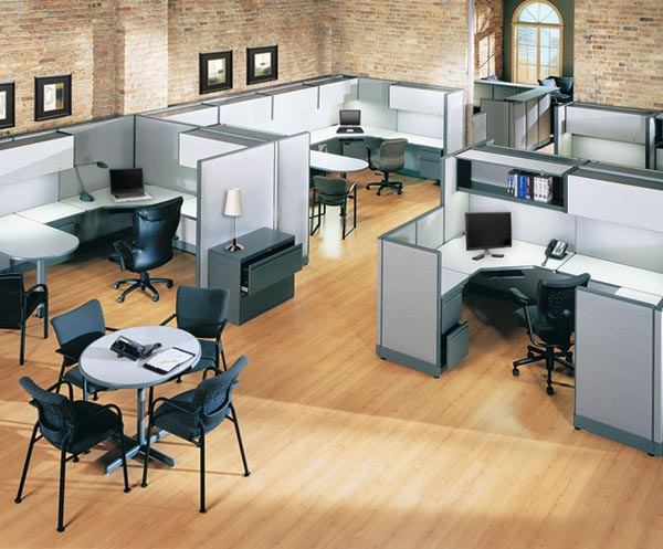 Powered Cubicle Furniture Solutions